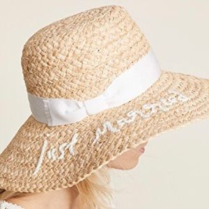 Kate Spade 'Just Married' Floppy Beach Sunhat
